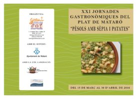 XXI GASTRONOMIC DAYS OF MATARÓ'S DISH