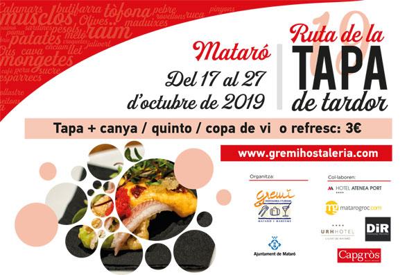 RUTA DE LA TAPA OCTUBRE 2019