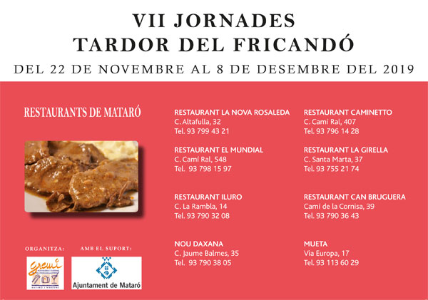 SEVENTH GASTRONOMIC DAYS OF THE FRICANDÓ A MATARÓ
