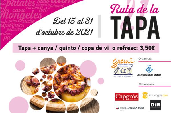 RUTA DE LA TAPA OCTUBRE 2021